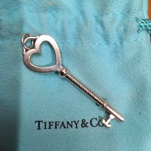 Authentic Tiffany Key Pendant Sterling Silver 925